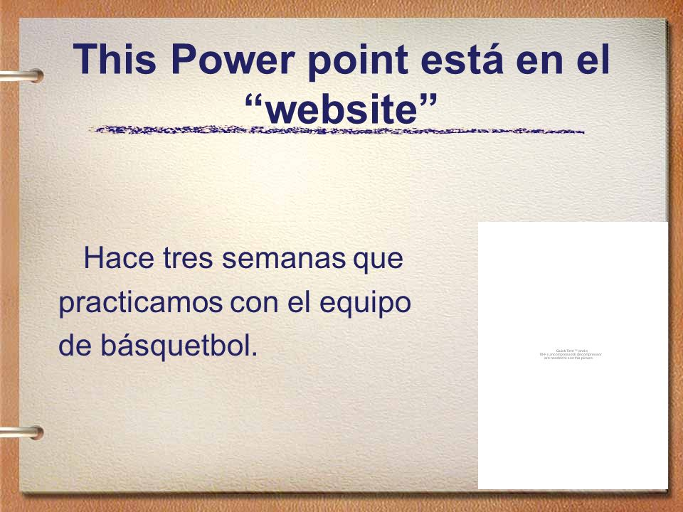 This Power point está en el website