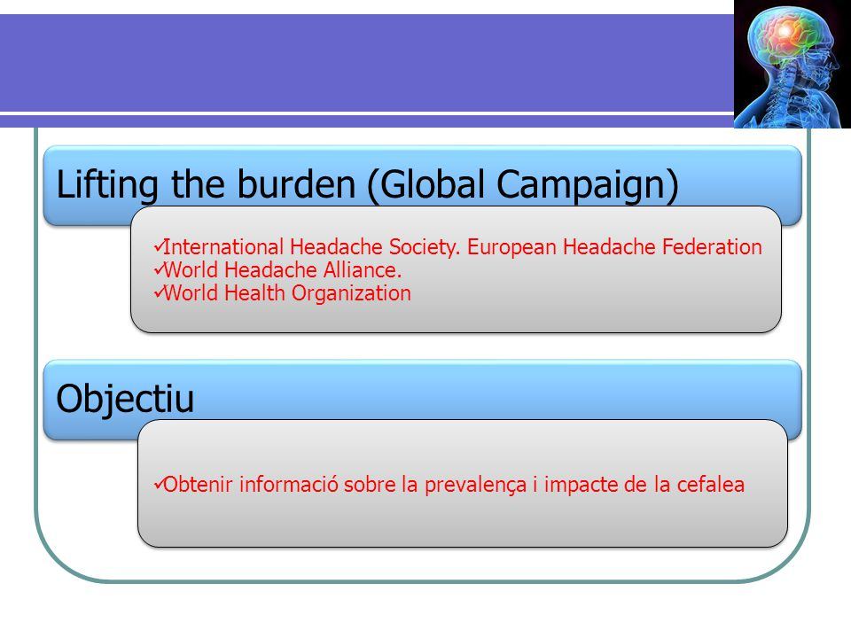 Lifting the burden (Global Campaign)