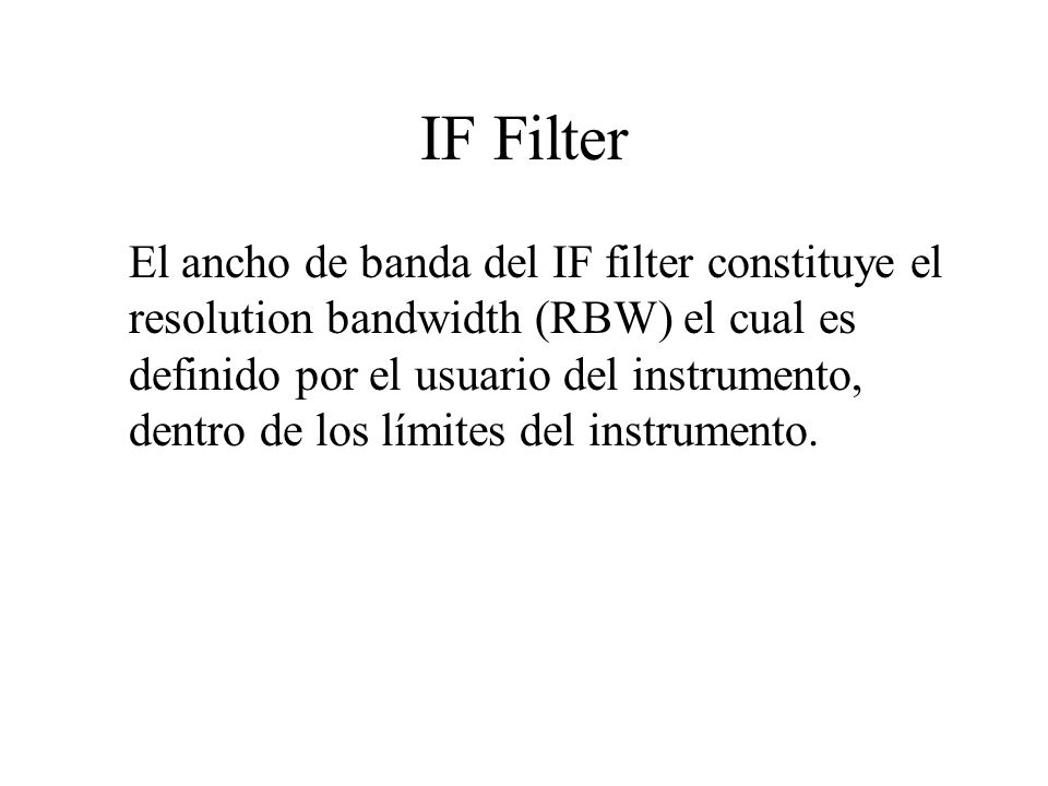 IF Filter