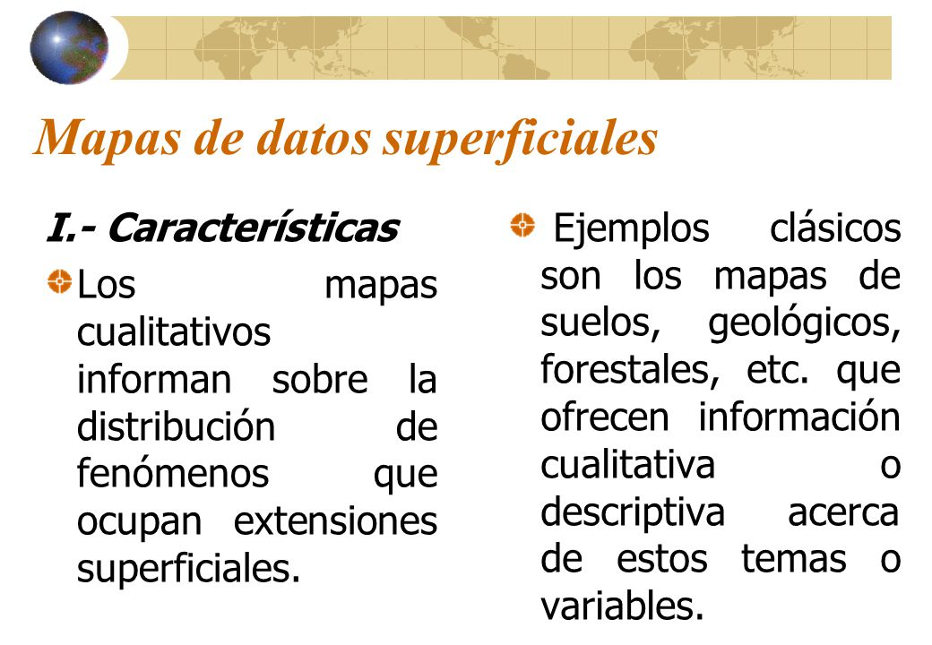 Mapas de datos superficiales