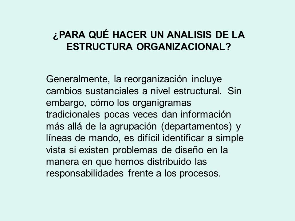 Analisis De Estructura Organizacional Ppt Descargar
