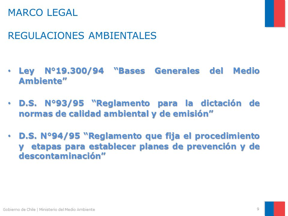 MARCO LEGAL REGULACIONES AMBIENTALES