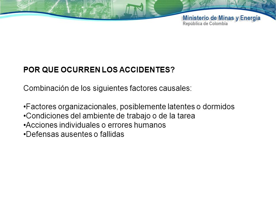 POR QUE OCURREN LOS ACCIDENTES