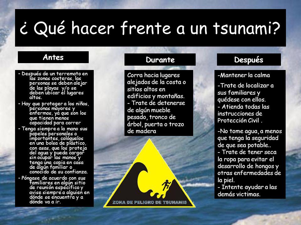 Resultado de imagen para Que se debe de hacer Antes de un Tsunami