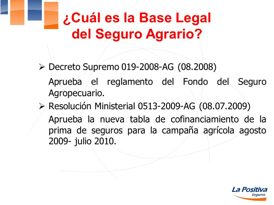¿Cuál es la Base Legal del Seguro Agrario