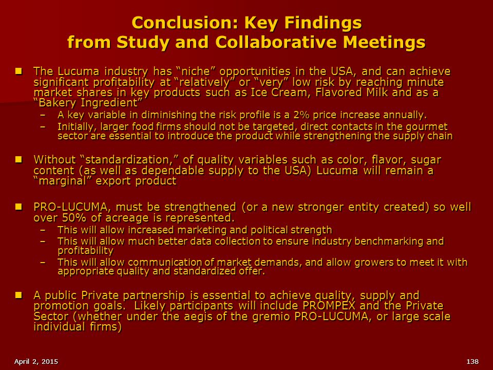 Conclusion: Key Findings from Study and Collaborative Meetings