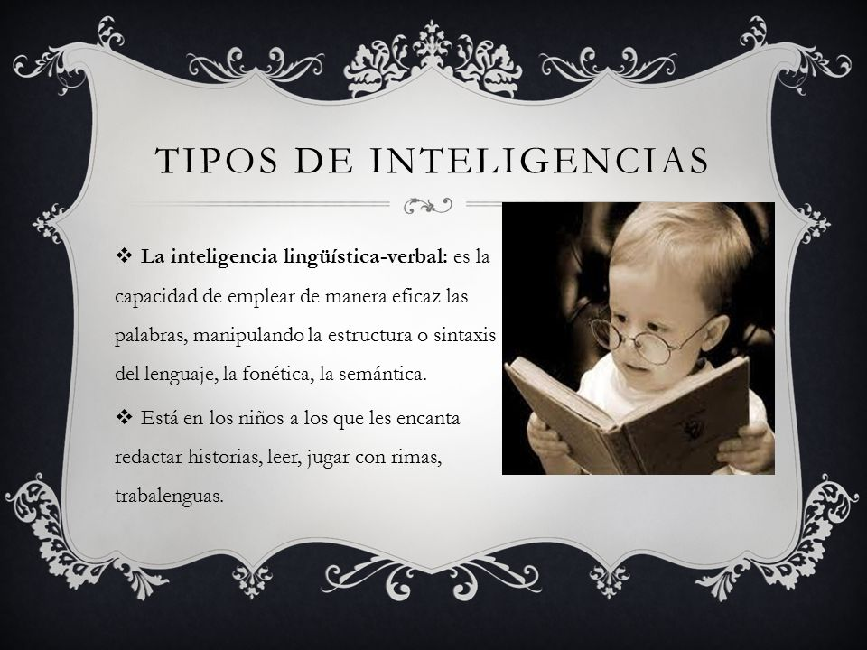 Tipos de inteligencias