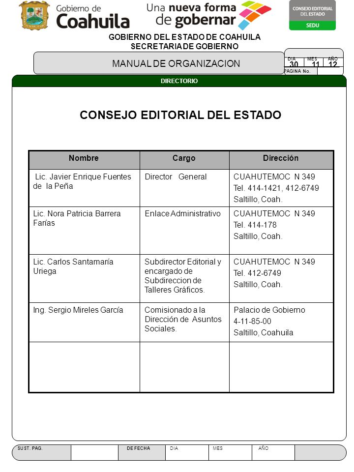 CONSEJO EDITORIAL DEL ESTADO