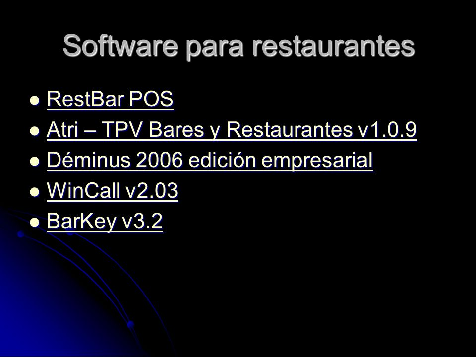 Software para restaurantes