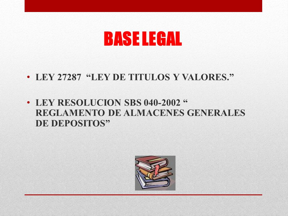 BASE LEGAL LEY 27287 LEY DE TITULOS Y VALORES.