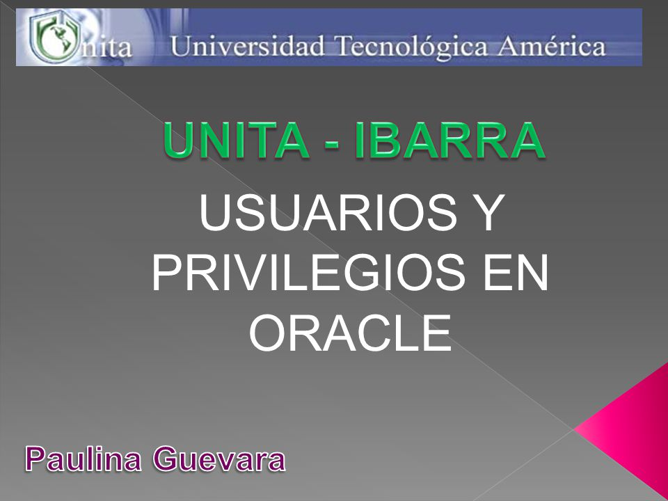 USUARIOS Y PRIVILEGIOS EN ORACLE