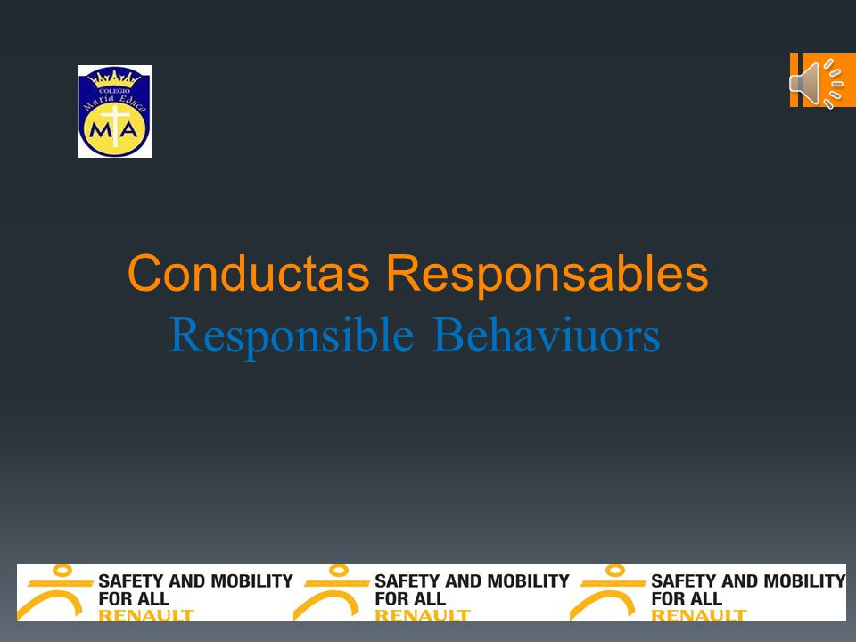 Conductas Responsables Responsible Behaviuors