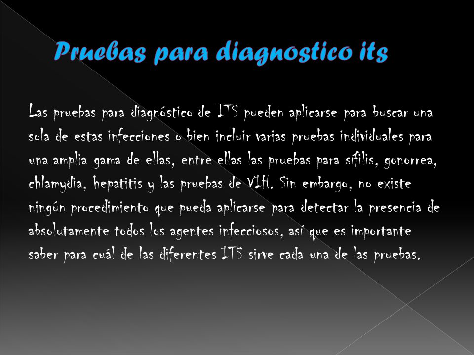 Pruebas para diagnostico its