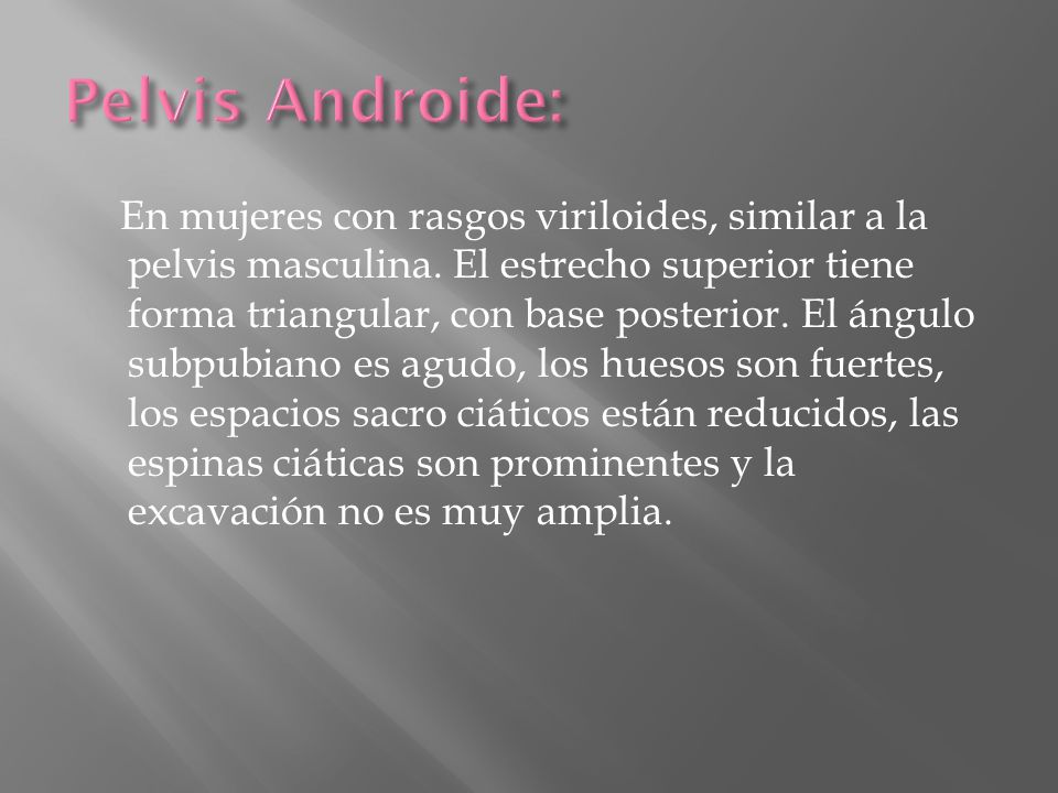 Pelvis Androide: