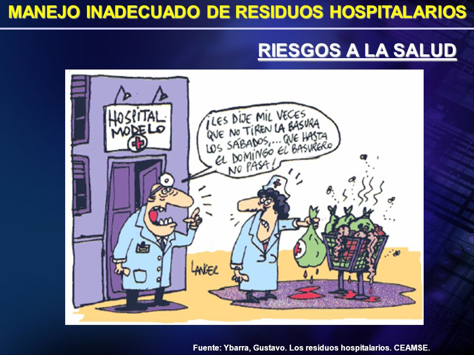 MANEJO INADECUADO DE RESIDUOS HOSPITALARIOS