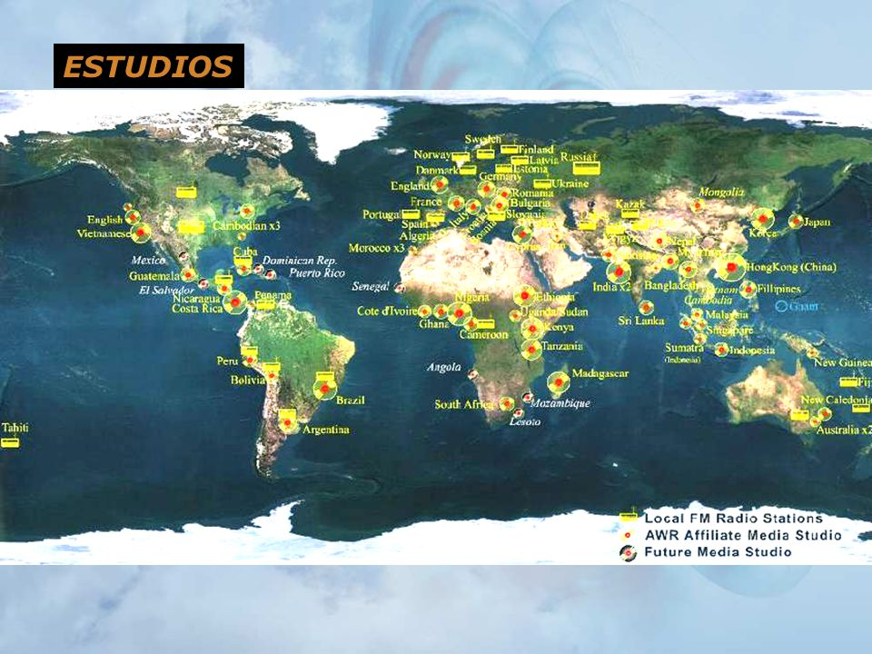 ESTUDIOS Instead, we work with local producers in about 75 studios around the world.