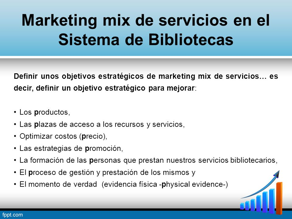 Marketing mix de servicios en el Sistema de Bibliotecas