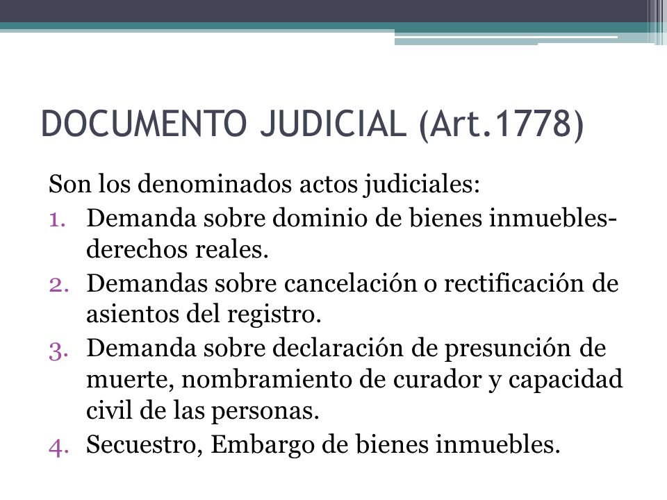 DOCUMENTO JUDICIAL (Art.1778)