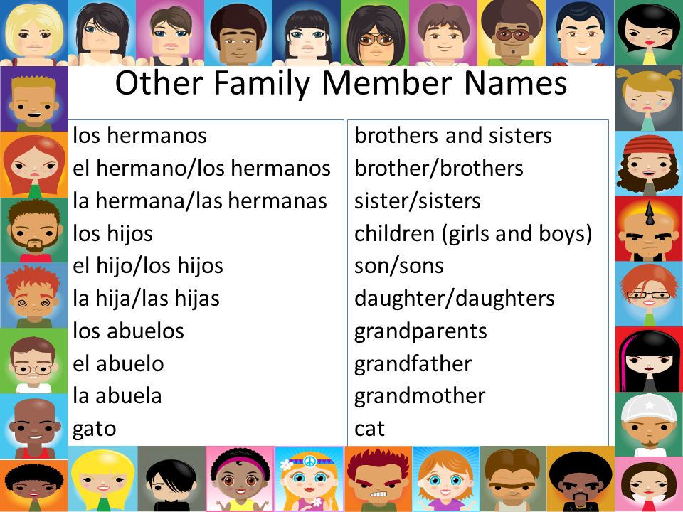 Other Family Member Names