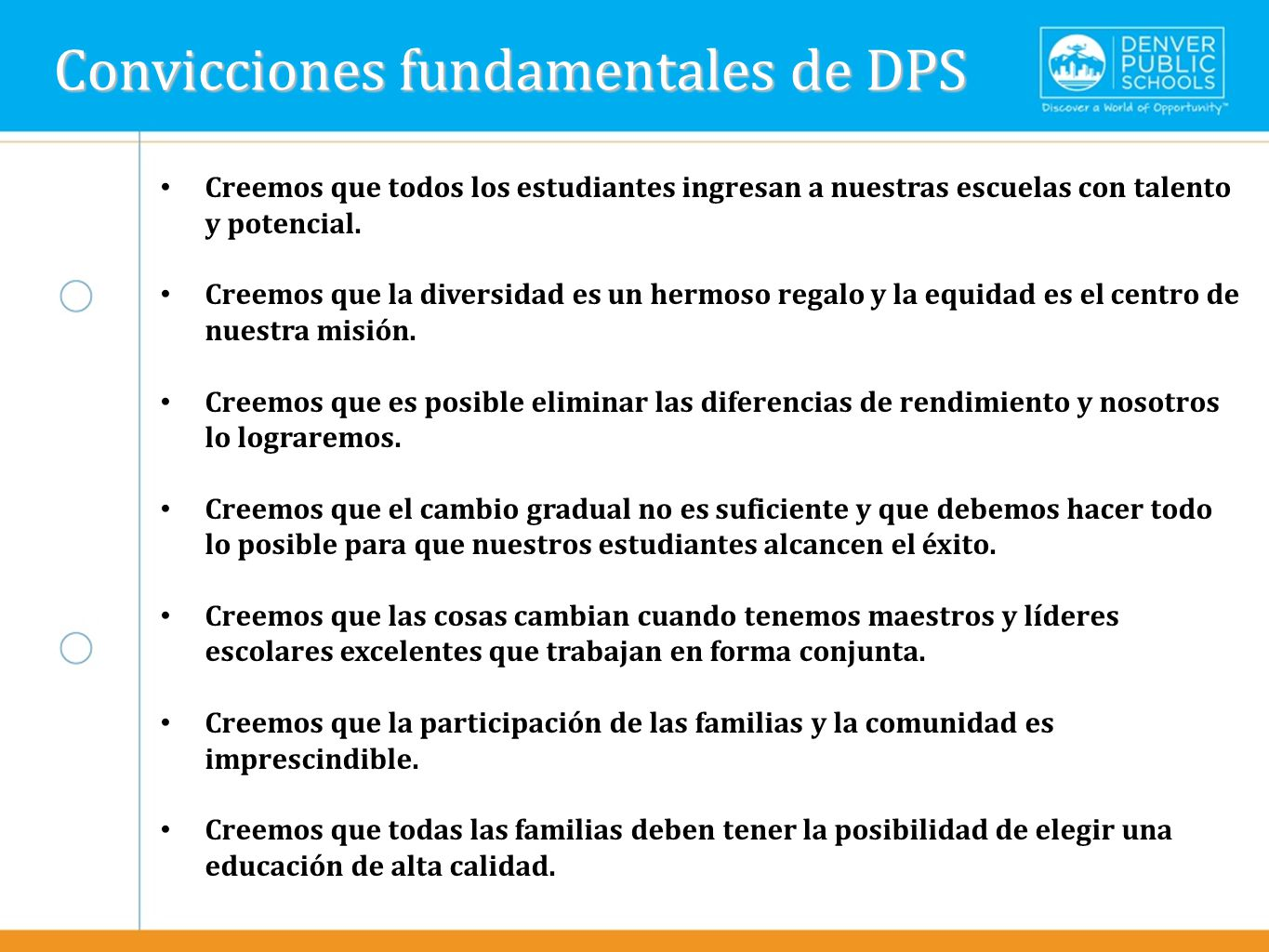 Text here Convicciones fundamentales de DPS