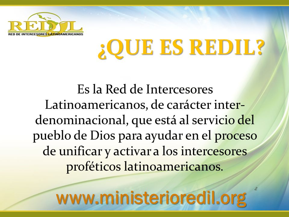 ¿QUE ES REDIL www.ministerioredil.org