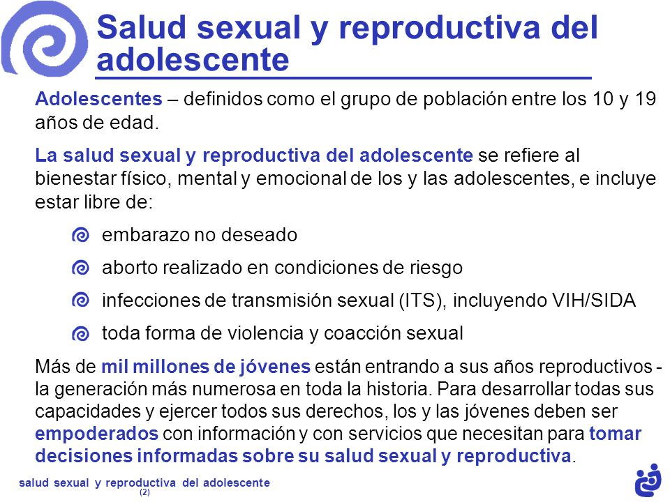 Salud sexual y reproductiva del adolescente