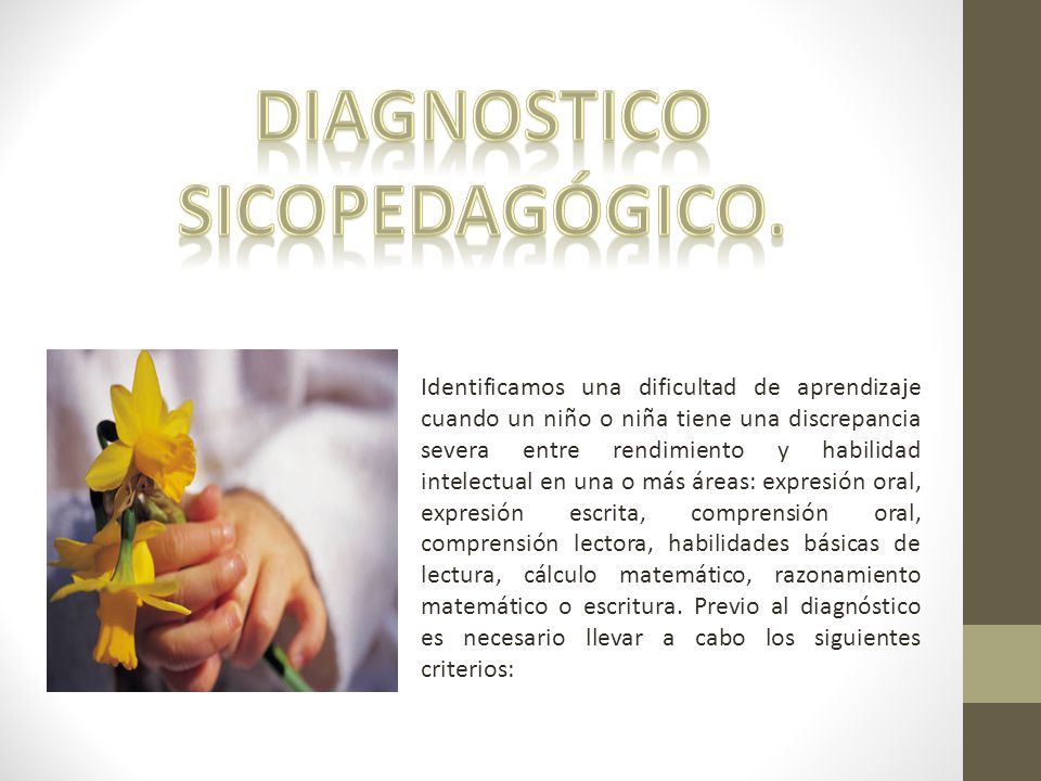 Diagnostico Sicopedagógico.