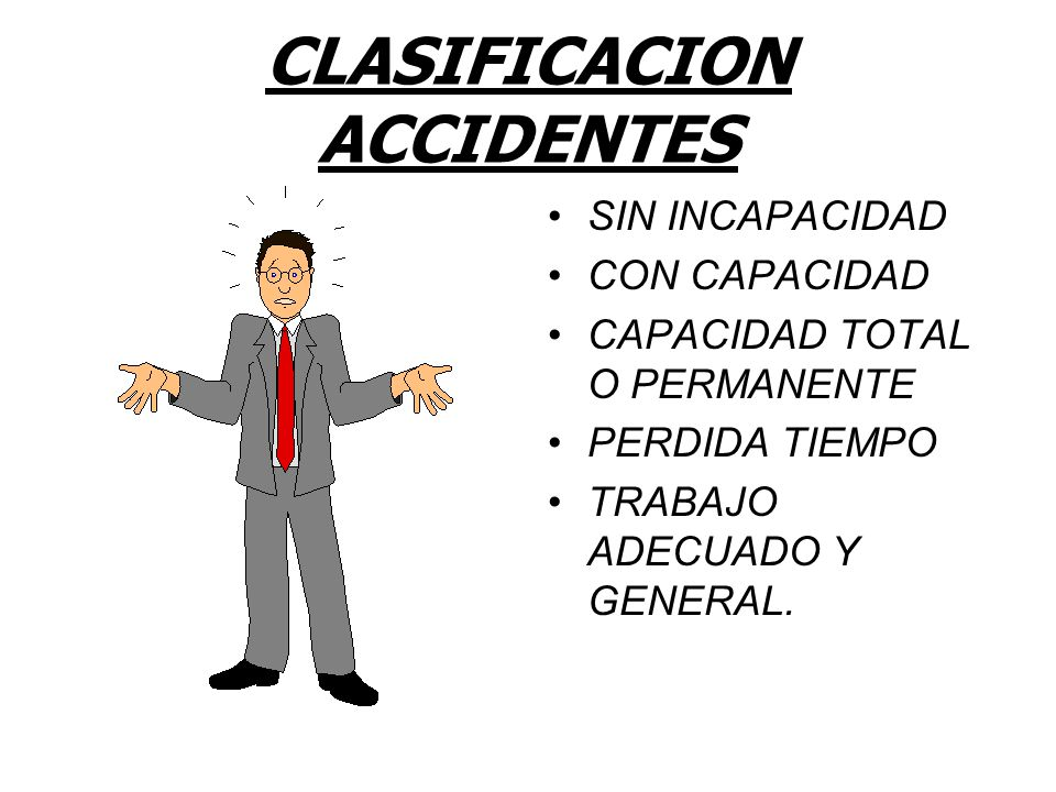 CLASIFICACION ACCIDENTES