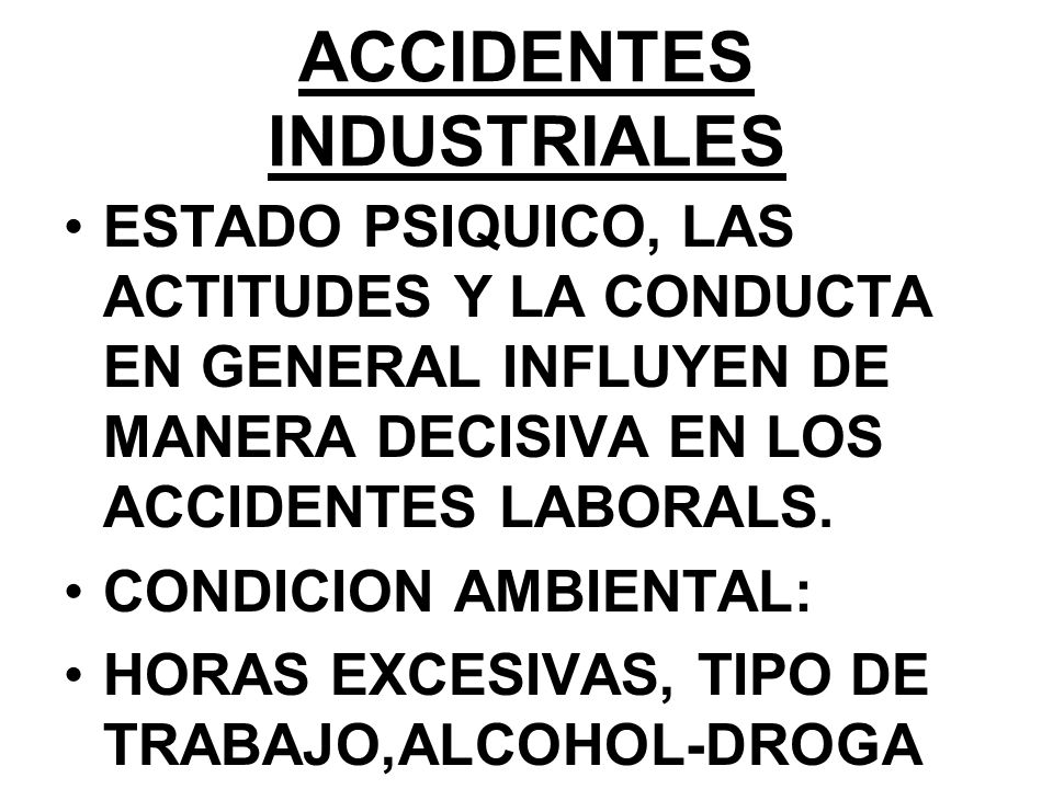 ACCIDENTES INDUSTRIALES