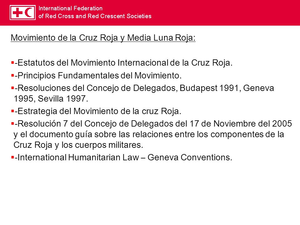 Movimiento de la Cruz Roja y Media Luna Roja: