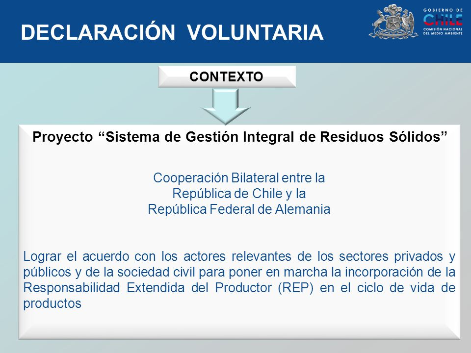 DECLARACIÓN VOLUNTARIA