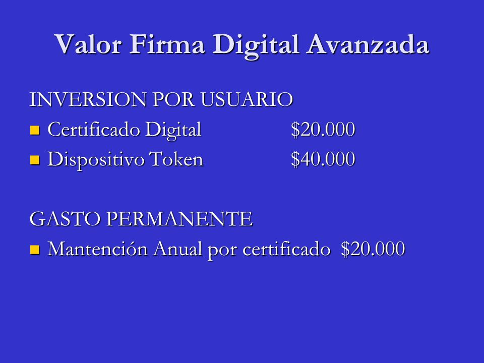 Valor Firma Digital Avanzada