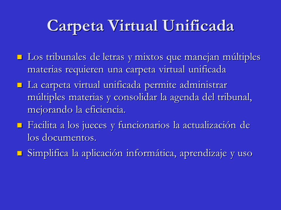 Carpeta Virtual Unificada