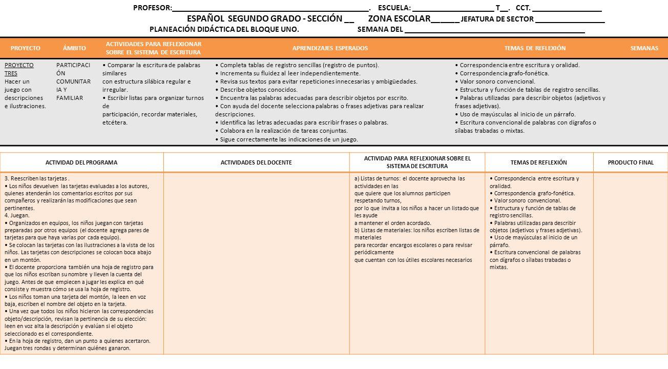 Planeacion Didactica Espanol Ppt Descargar