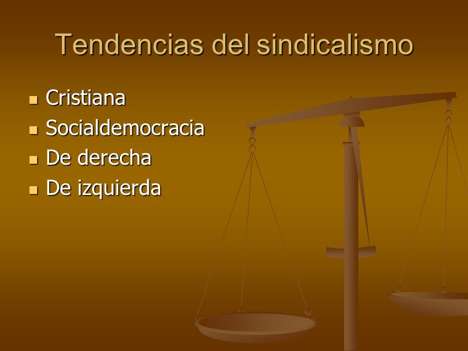 Tendencias del sindicalismo