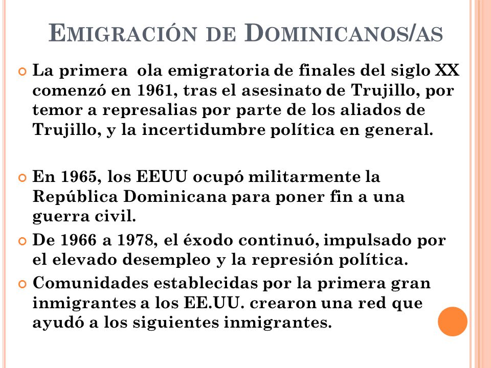 Emigración de Dominicanos/as