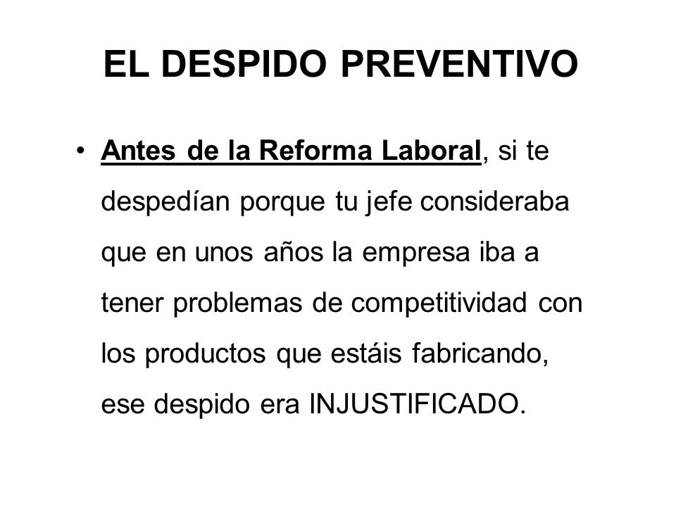 EL DESPIDO PREVENTIVO