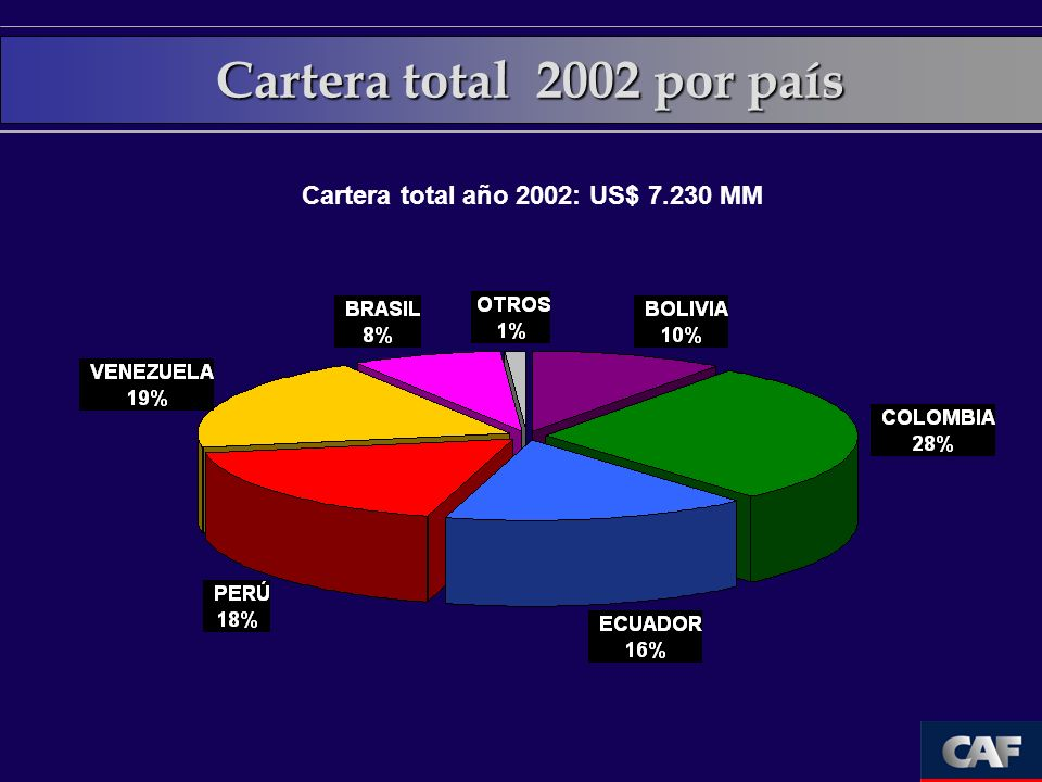 Cartera total año 2002: US$ MM