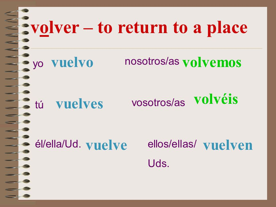 volver – to return to a place
