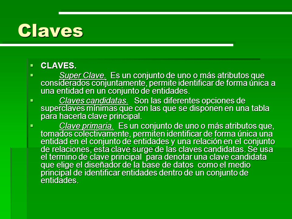 Claves CLAVES.