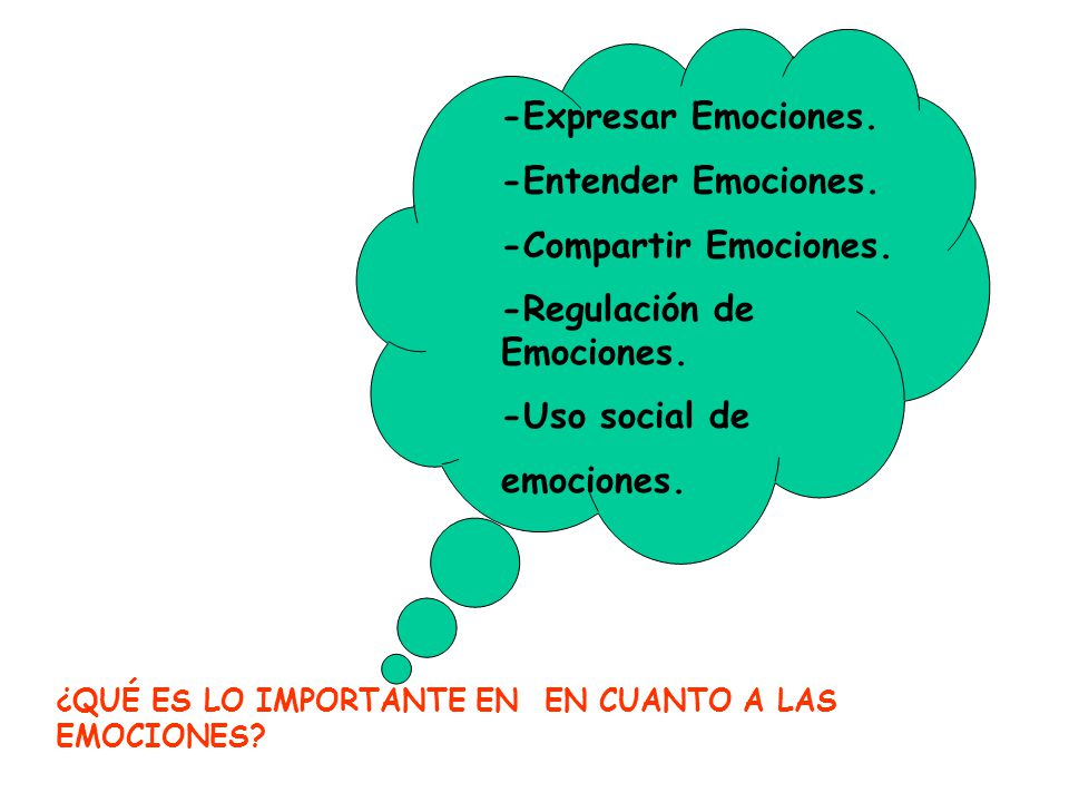 -Regulación de Emociones.