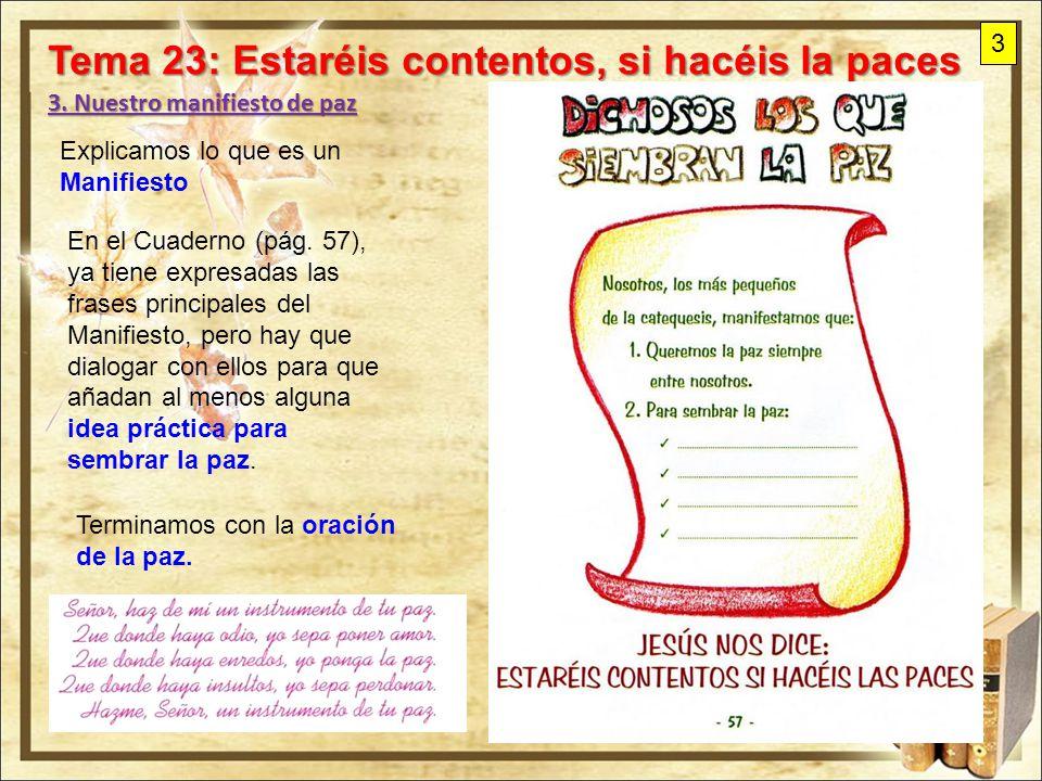 Tema 23: Estaréis contentos, si hacéis la paces - ppt descargar