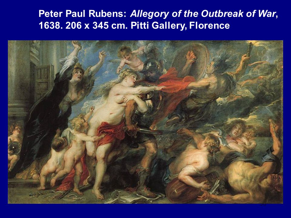 Peter Paul Rubens: Allegory of the Outbreak of War, 1638. 206 x 345 cm