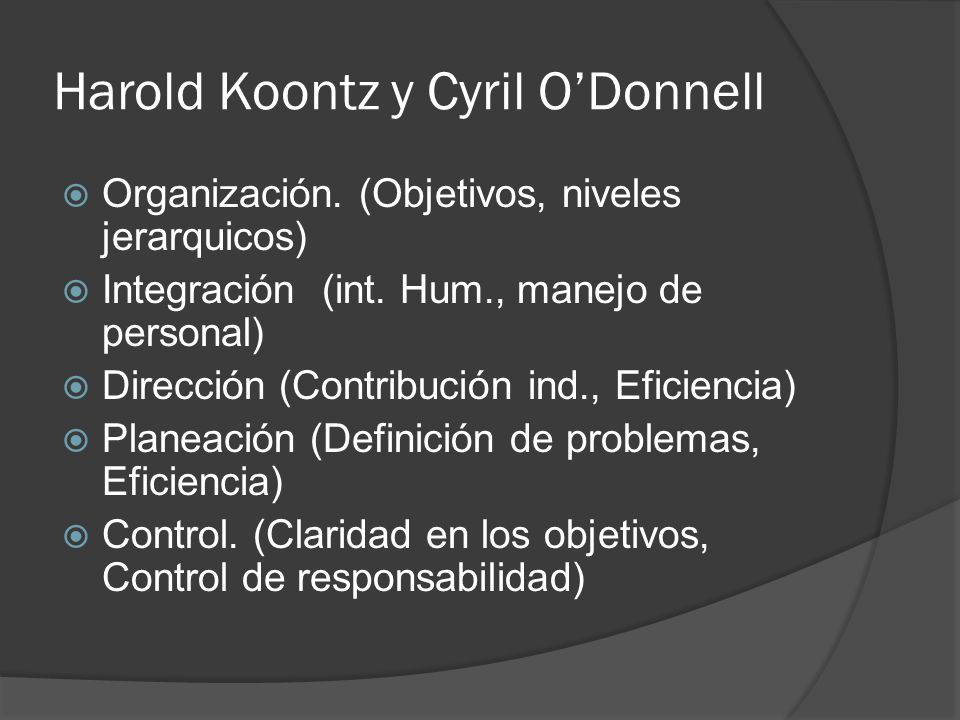 Harold Koontz y Cyril O'Donnell