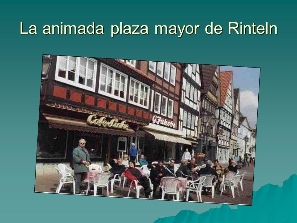 La animada plaza mayor de Rinteln