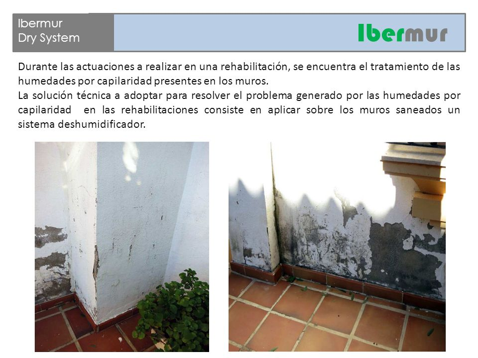 Ibermur Dry System Sistema deshumidificante de muros  - ppt