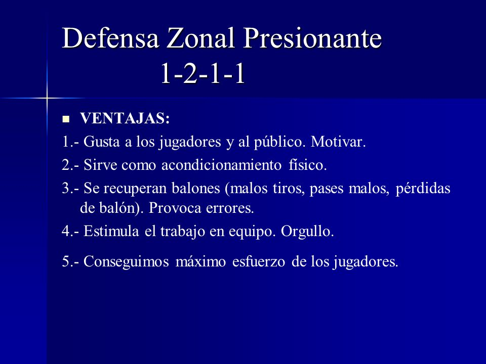Defensa Zonal Presionante