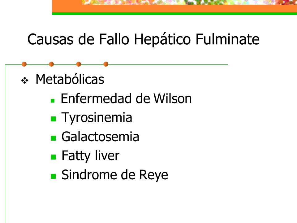 Causas de Fallo Hepático Fulminate