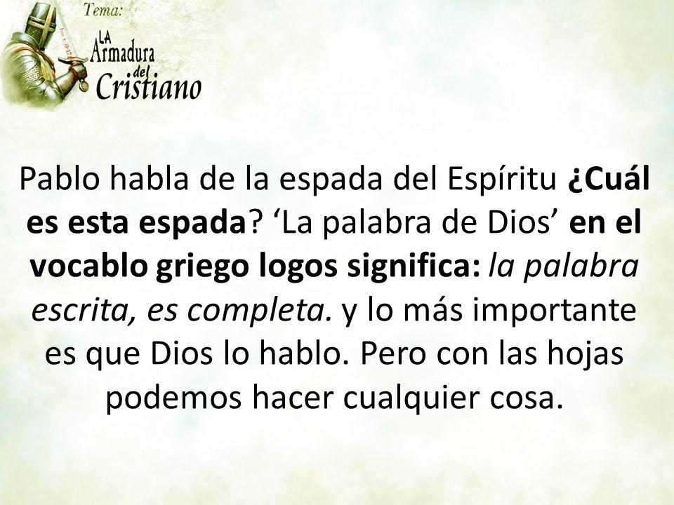 Tema: La Armadura del Cristiano. - ppt video online descargar