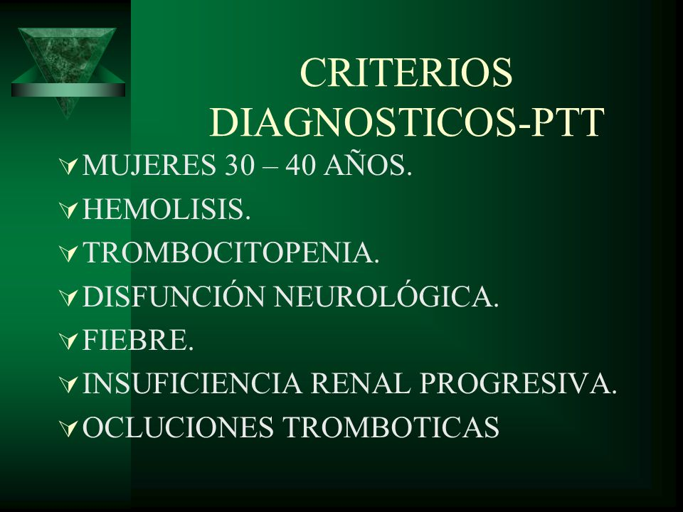 CRITERIOS DIAGNOSTICOS-PTT